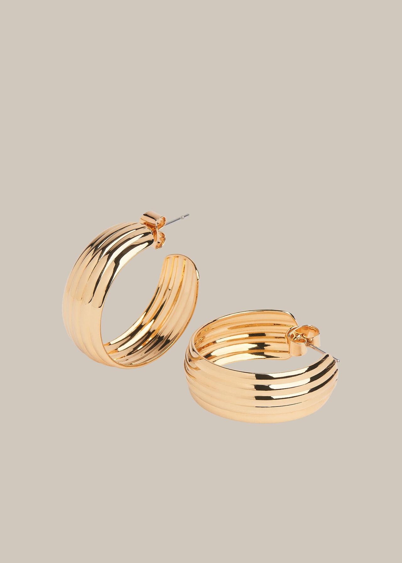 Large Linear Hoop Earring