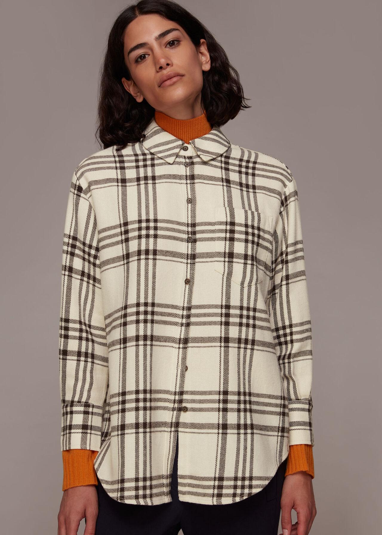 Oversized Check Cotton Shirt