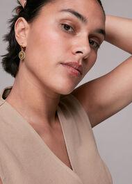Sun Disc Earrings