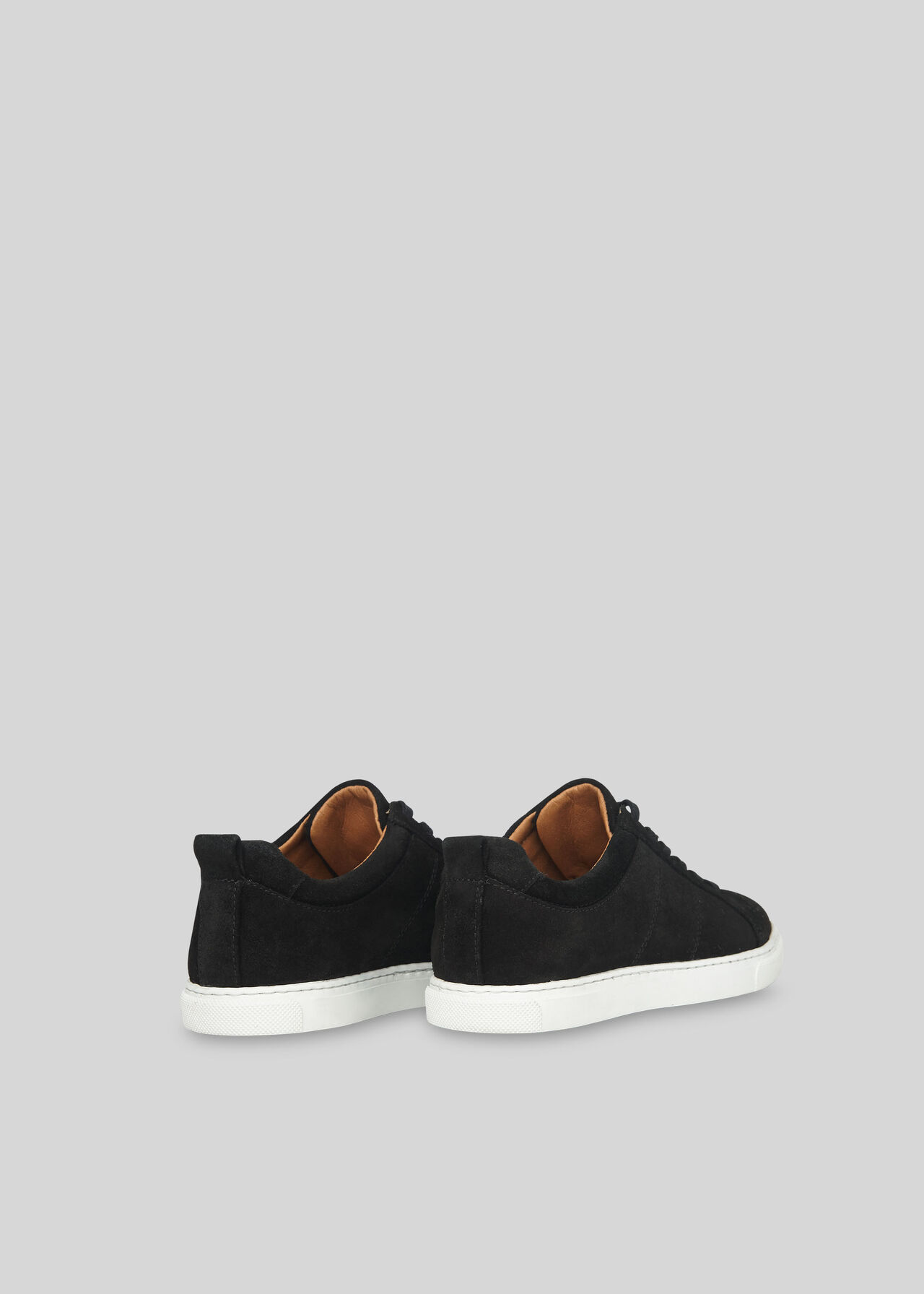 Koki Suede Lace Up Trainer Black