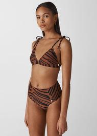 Zebra Print Bikini Top Multicolour