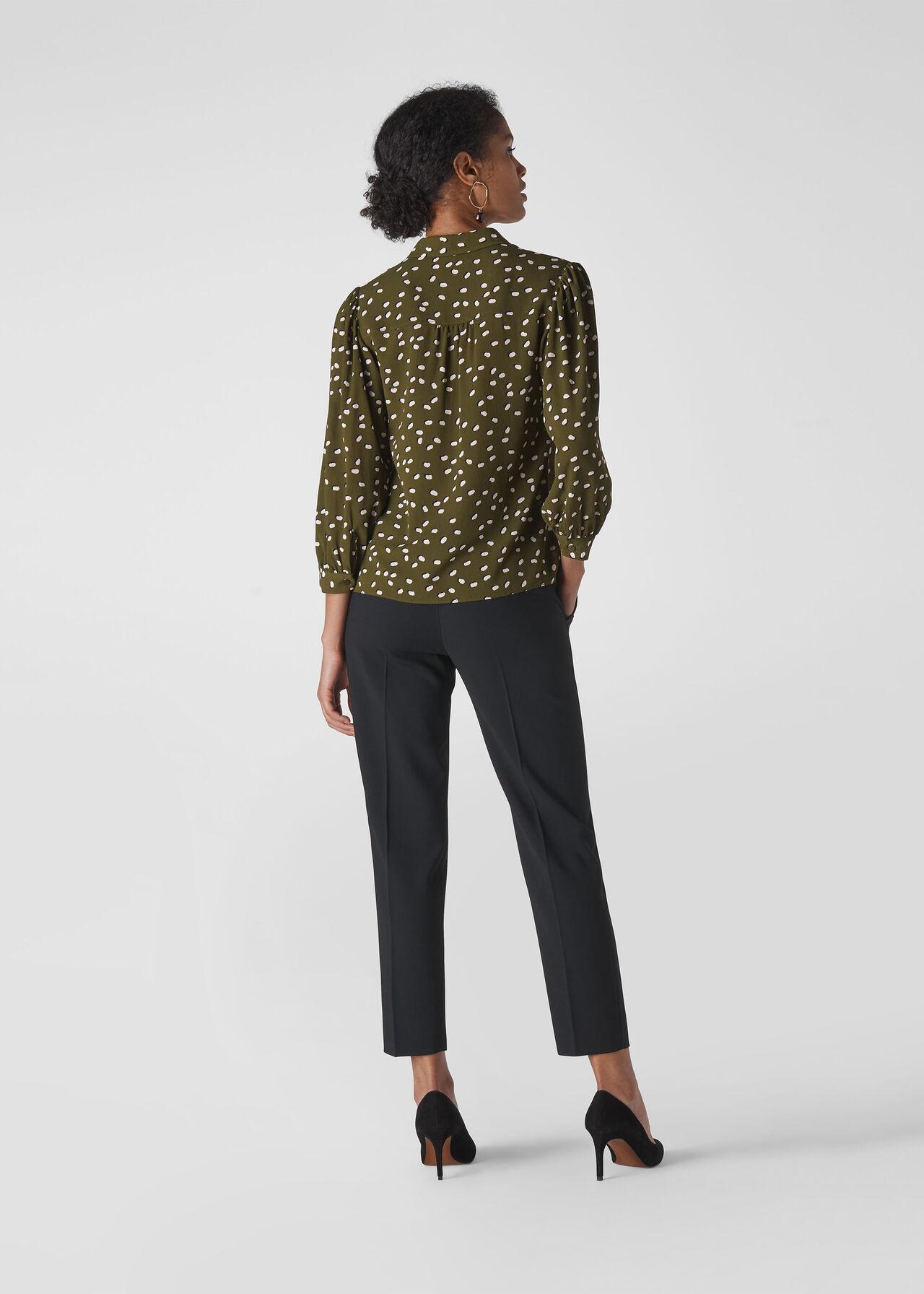 Shadow Spot Print Shirt Khaki/Multi