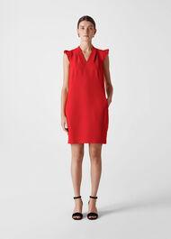 Safia Crepe Dress Red