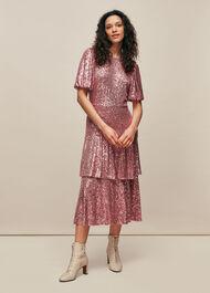 Arabelle Sequin Midi Dress