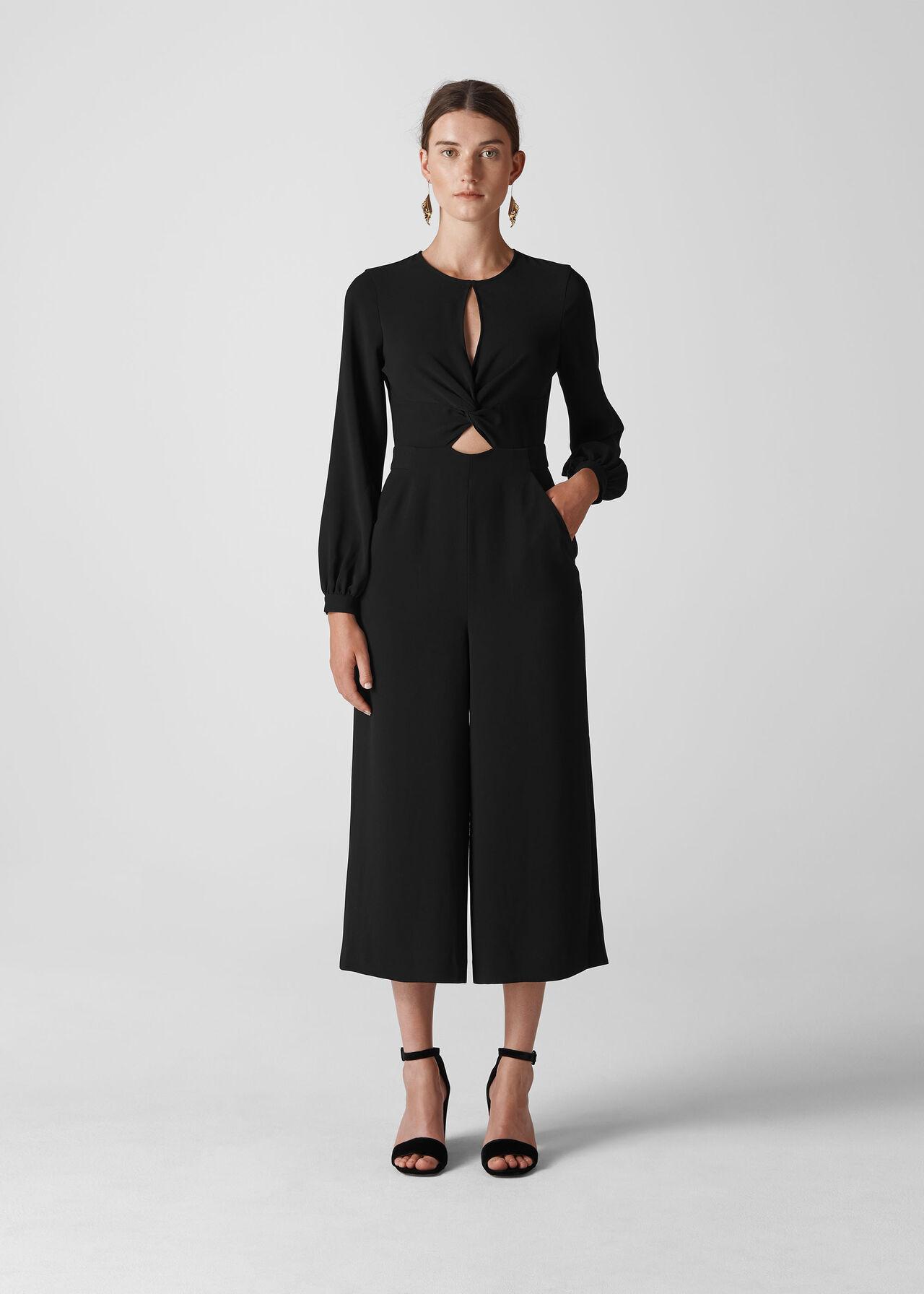 Lexi Twist Front Jumpsuit Black