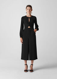 Lexi Twist Front Jumpsuit Black