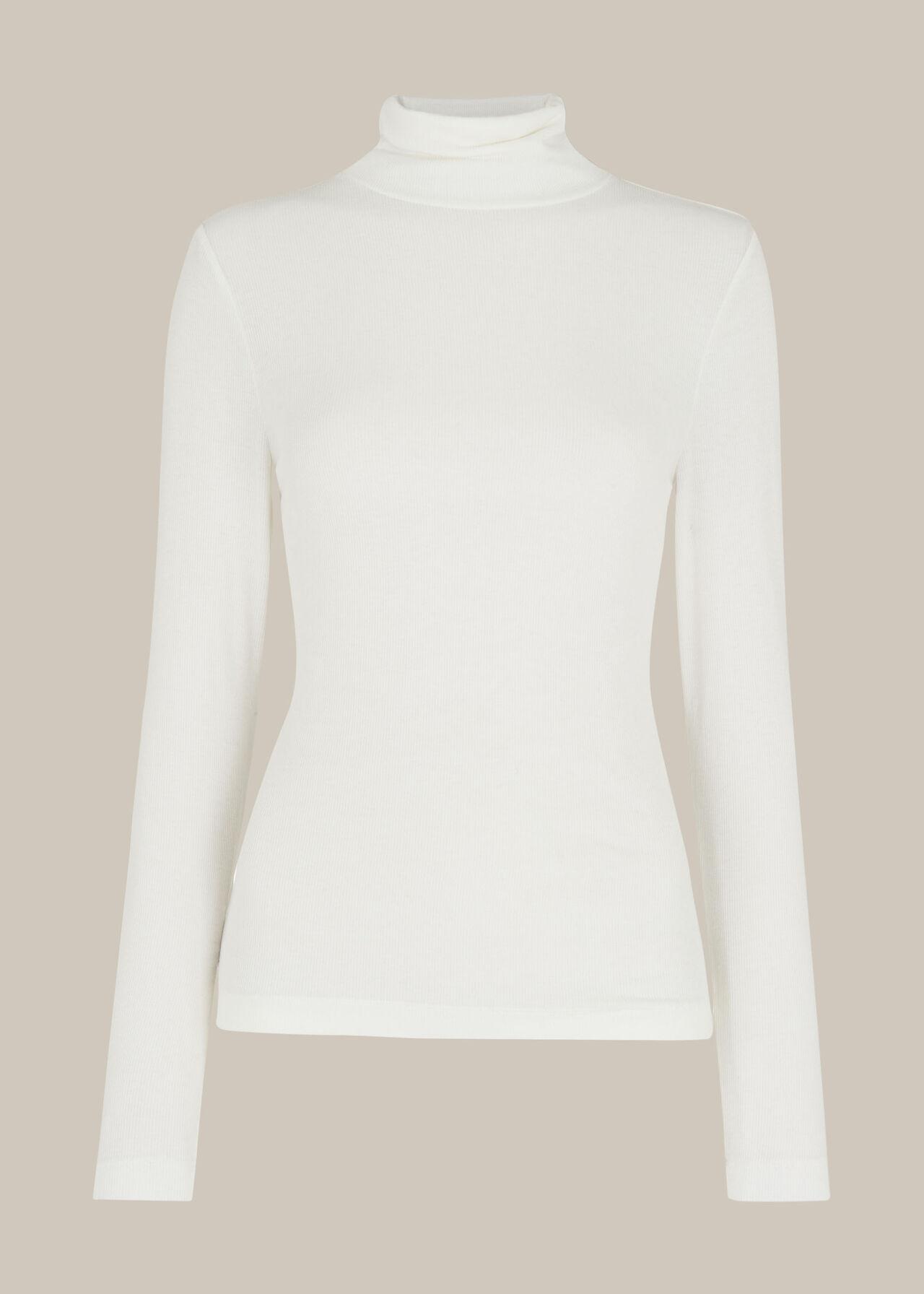 Essential Polo Neck Ivory