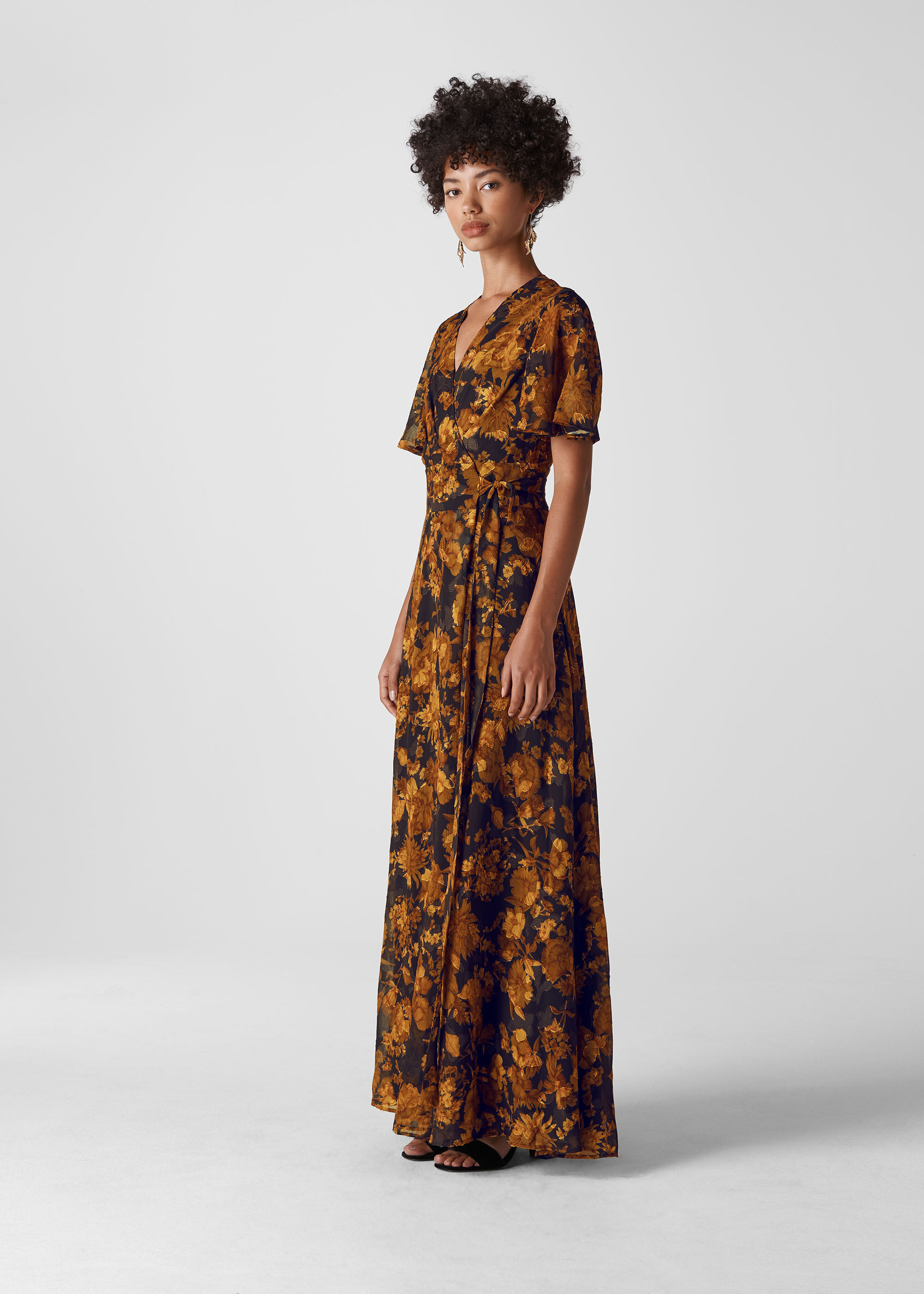 Whistles Women Wrap Devore Maxi Dress
