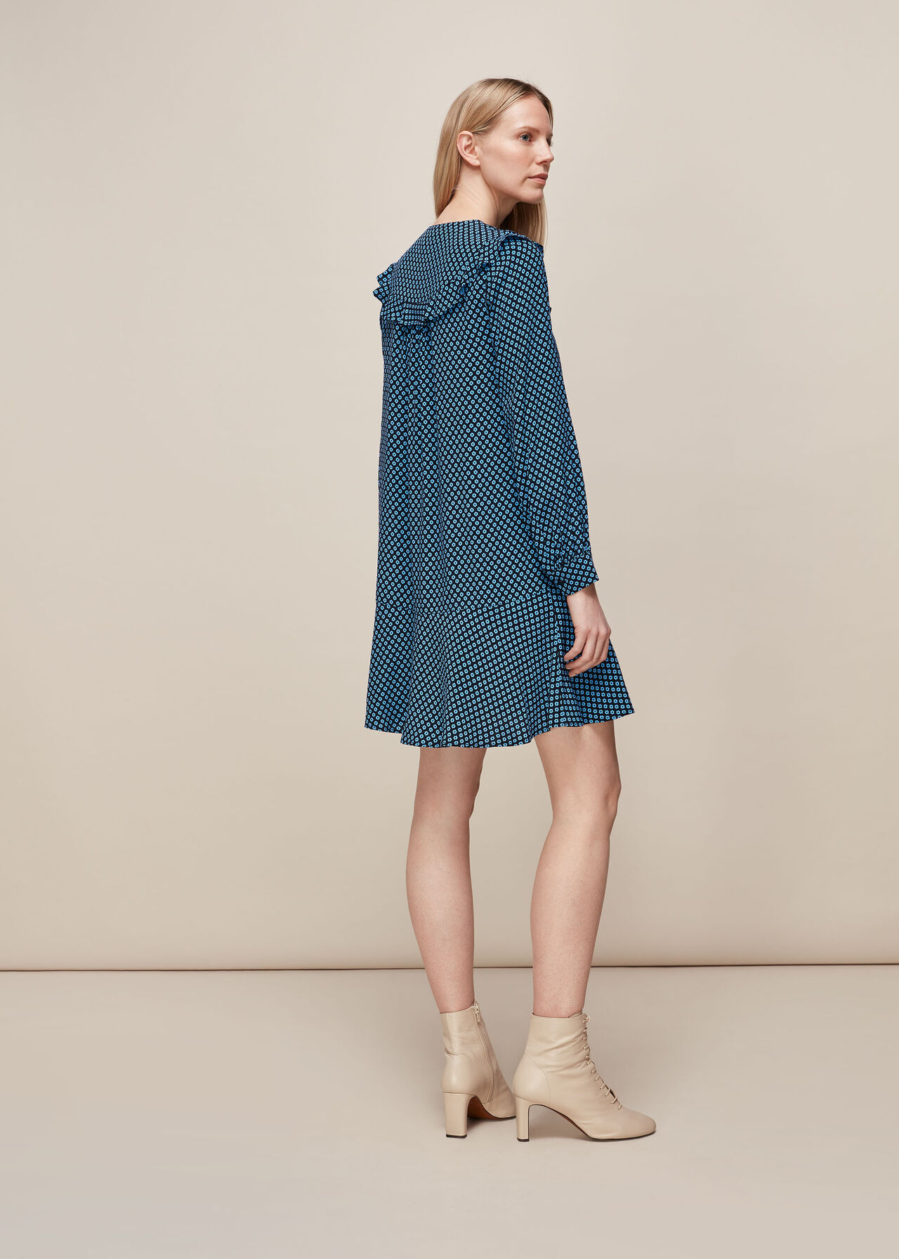 Daisy Print Frill Dress