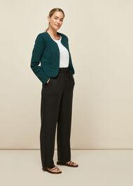 Collarless Jersey Jacket