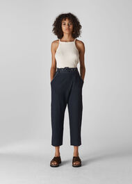 May Belted Trouser Navy