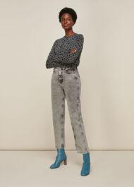 Cashmere Dalmatian Print Knit