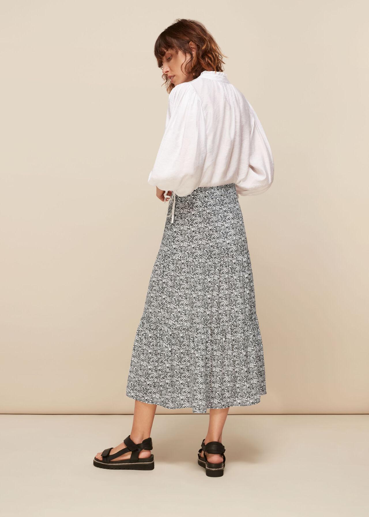 Mixed Animal Tiered Skirt