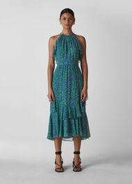 Devina Henna Print Dress Blue/Multi
