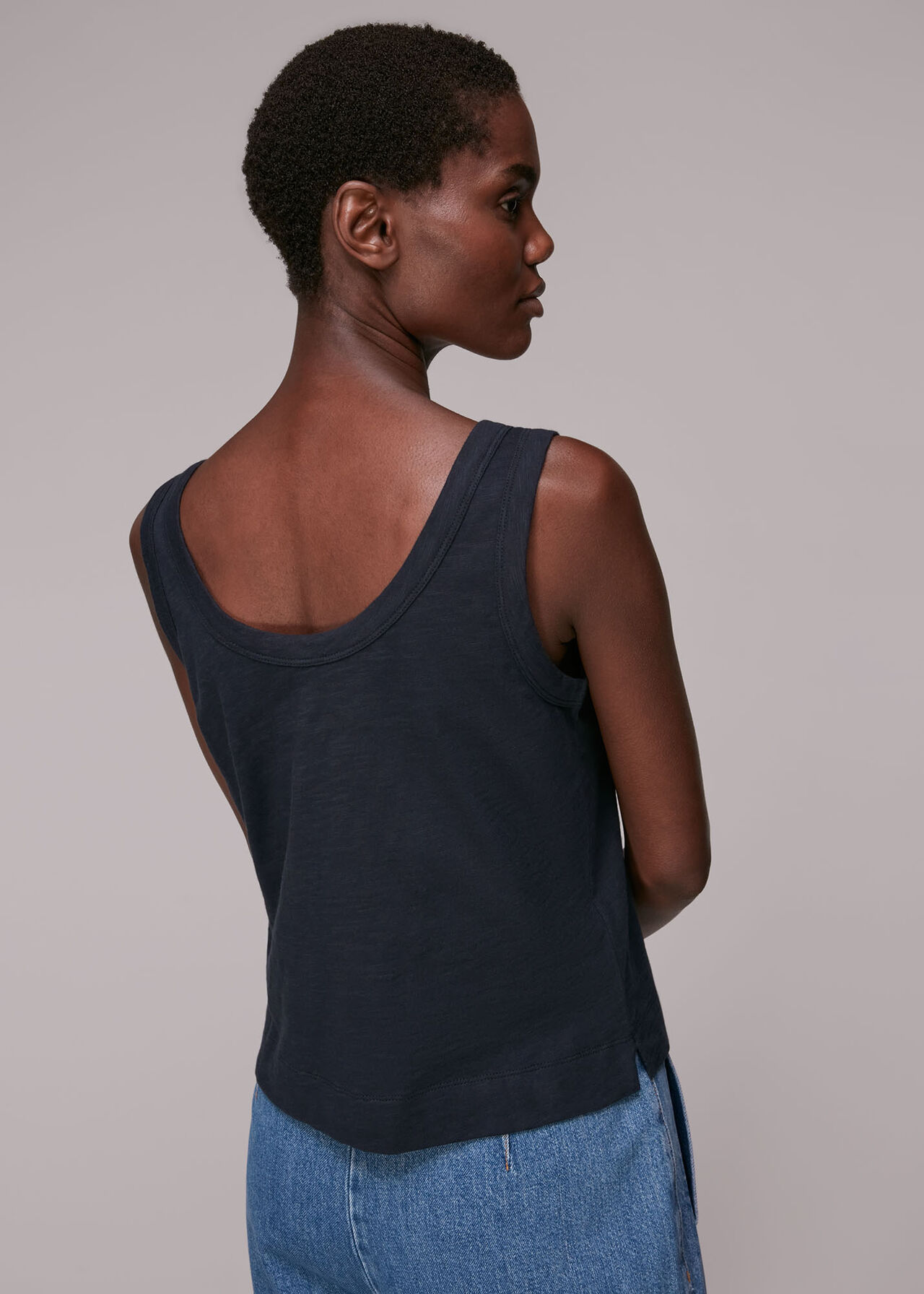 Reversible Button Up Tank Top