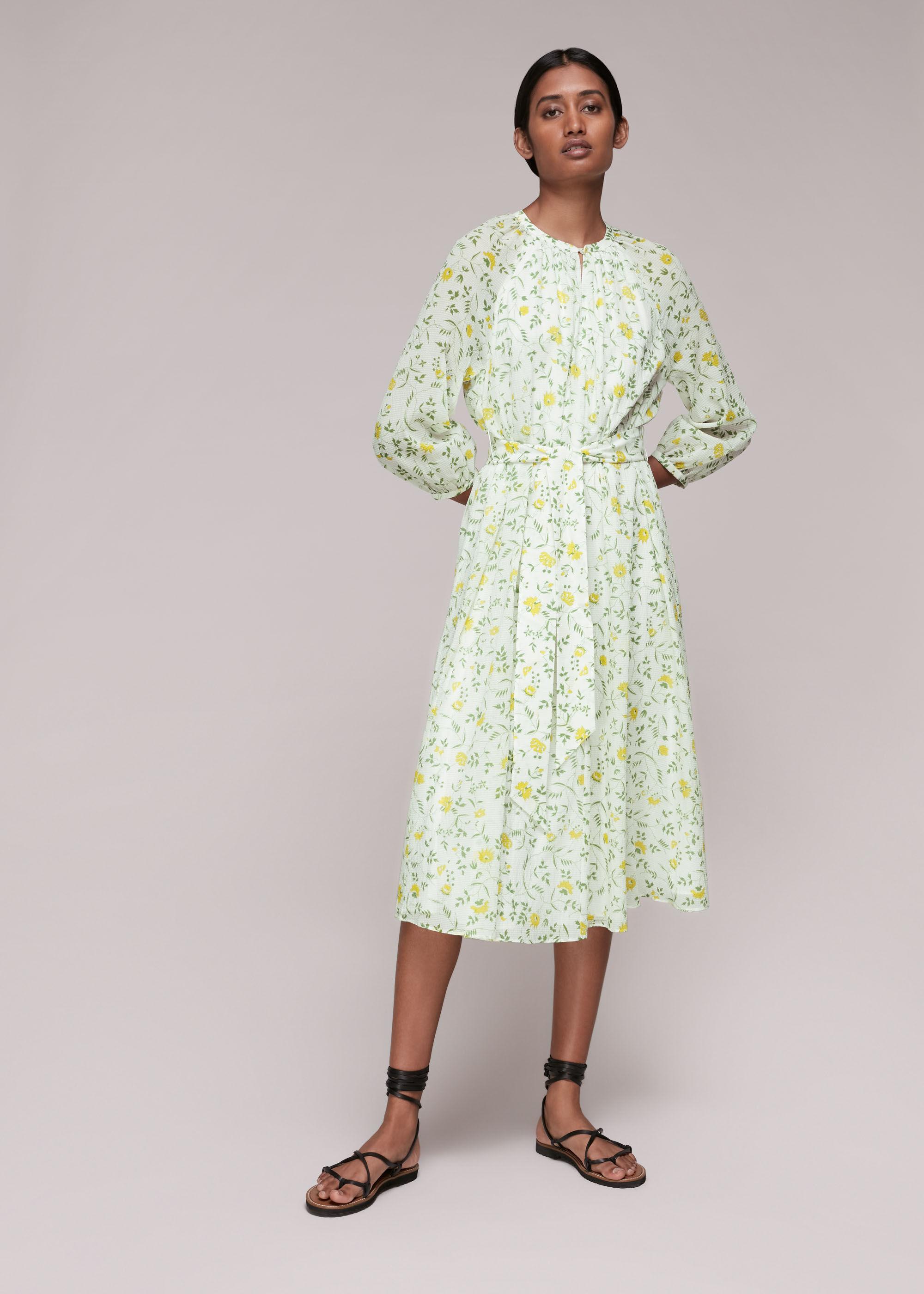 Whistles Women Savannah Floral Silk Mix Dress