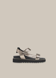 Noah Sporty Velcro Sandal Pewter