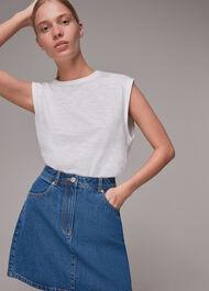 Denim Pocket Mini Skirt