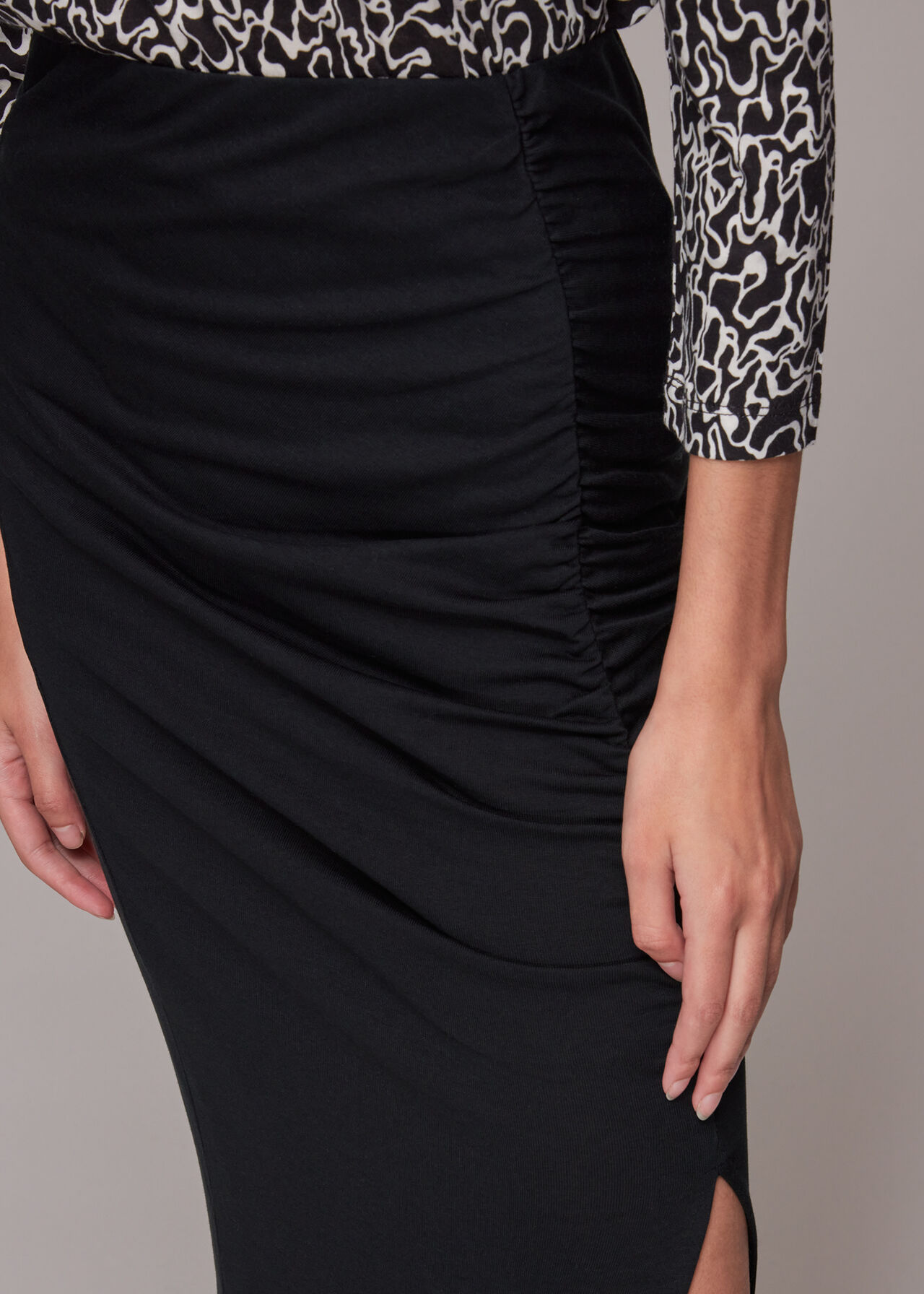 Clare Side Ruched Detail Skirt