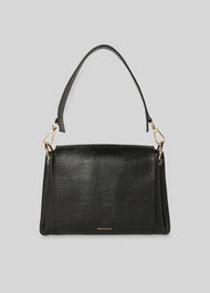 Edison Lizard Shoulder Bag Black