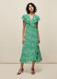 Blot Animal Wrap Dress