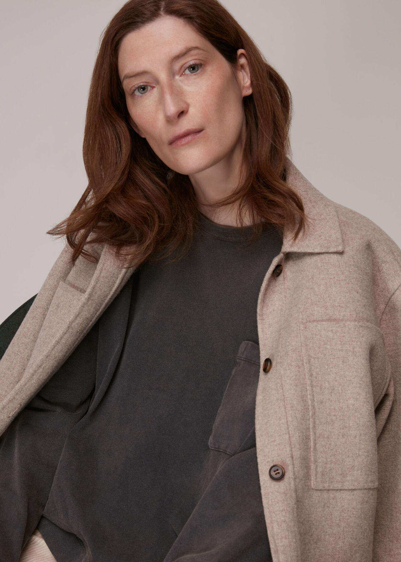 Relaxed Washed Pocket Top