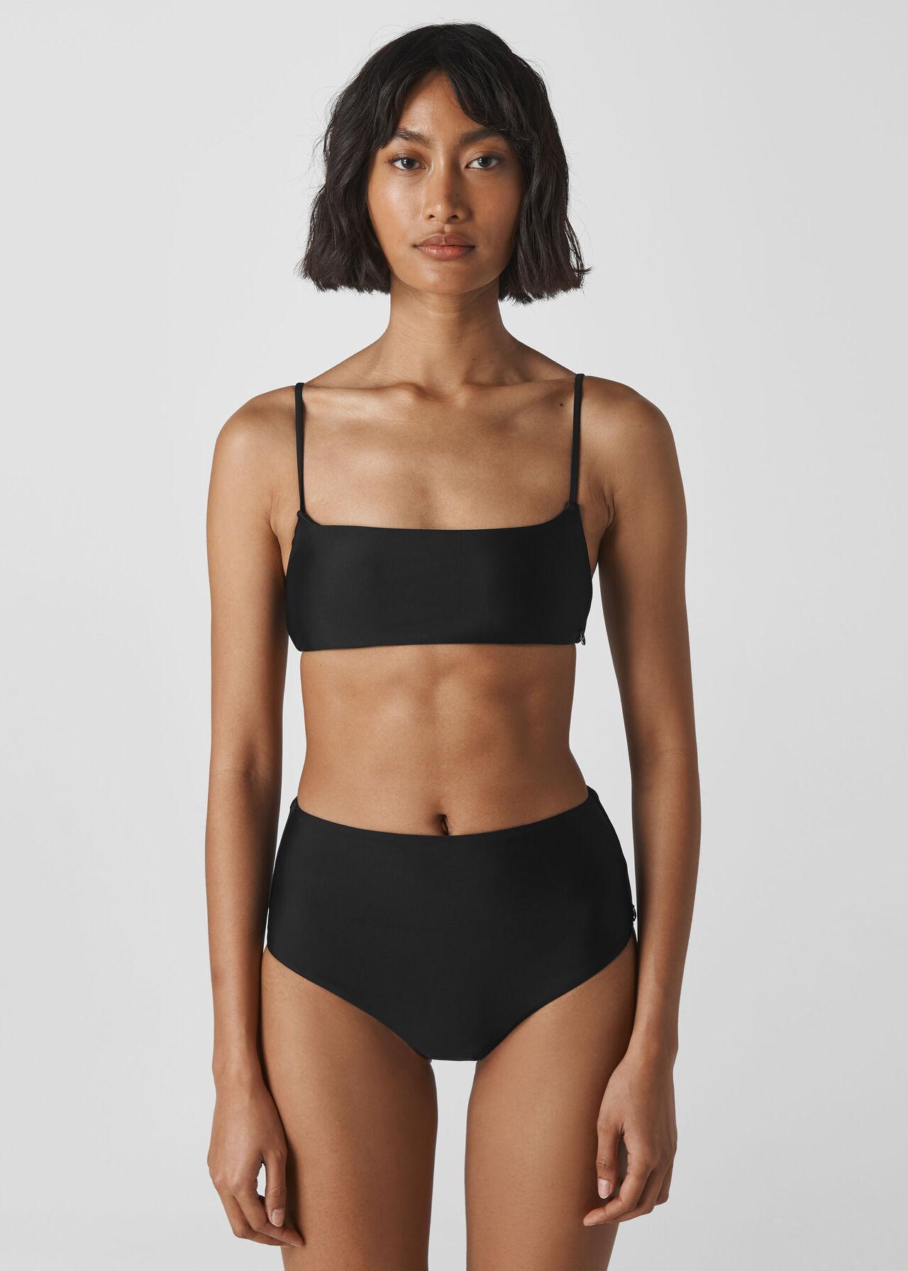 Strappy Bikini Top Black