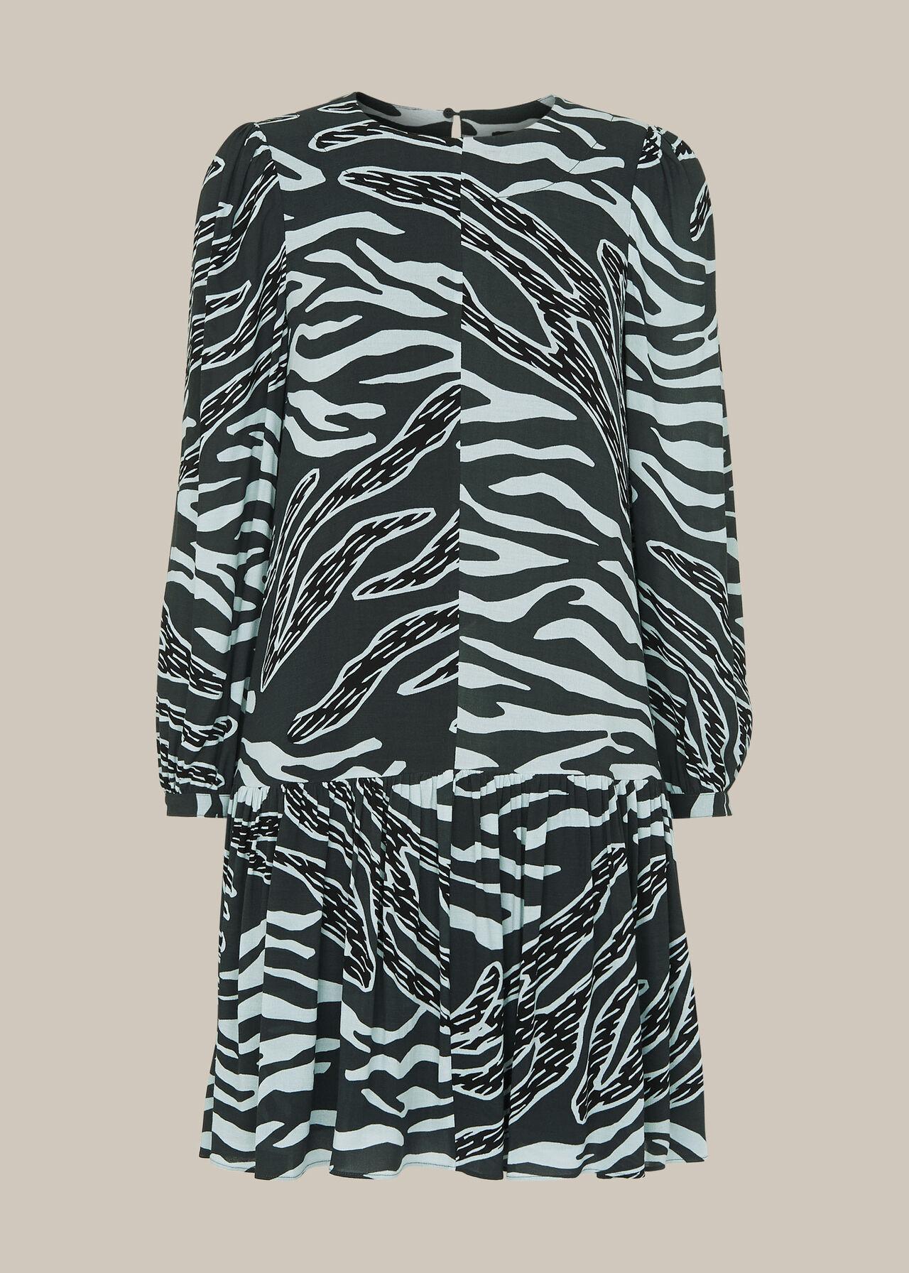 Graphic Zebra Print Dress