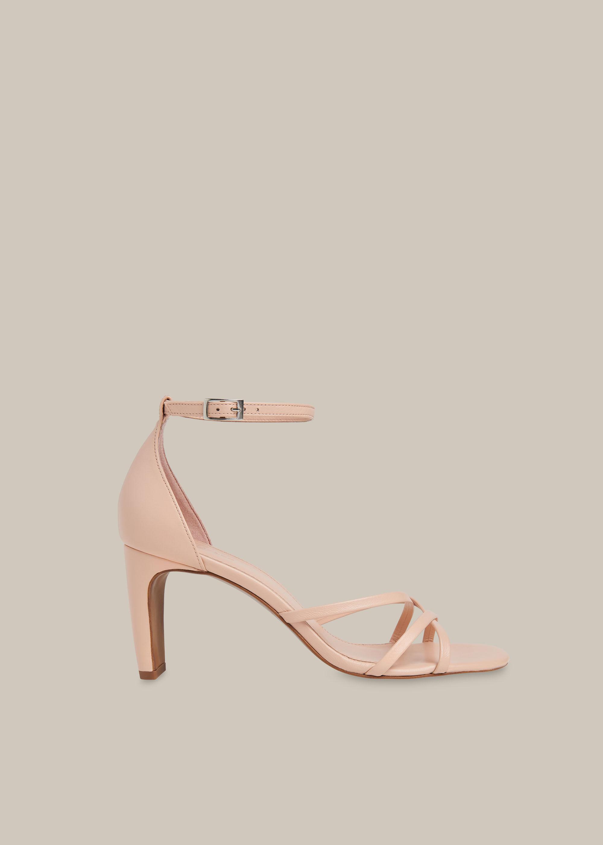 Pale Pink Hallie Strappy High Sandal