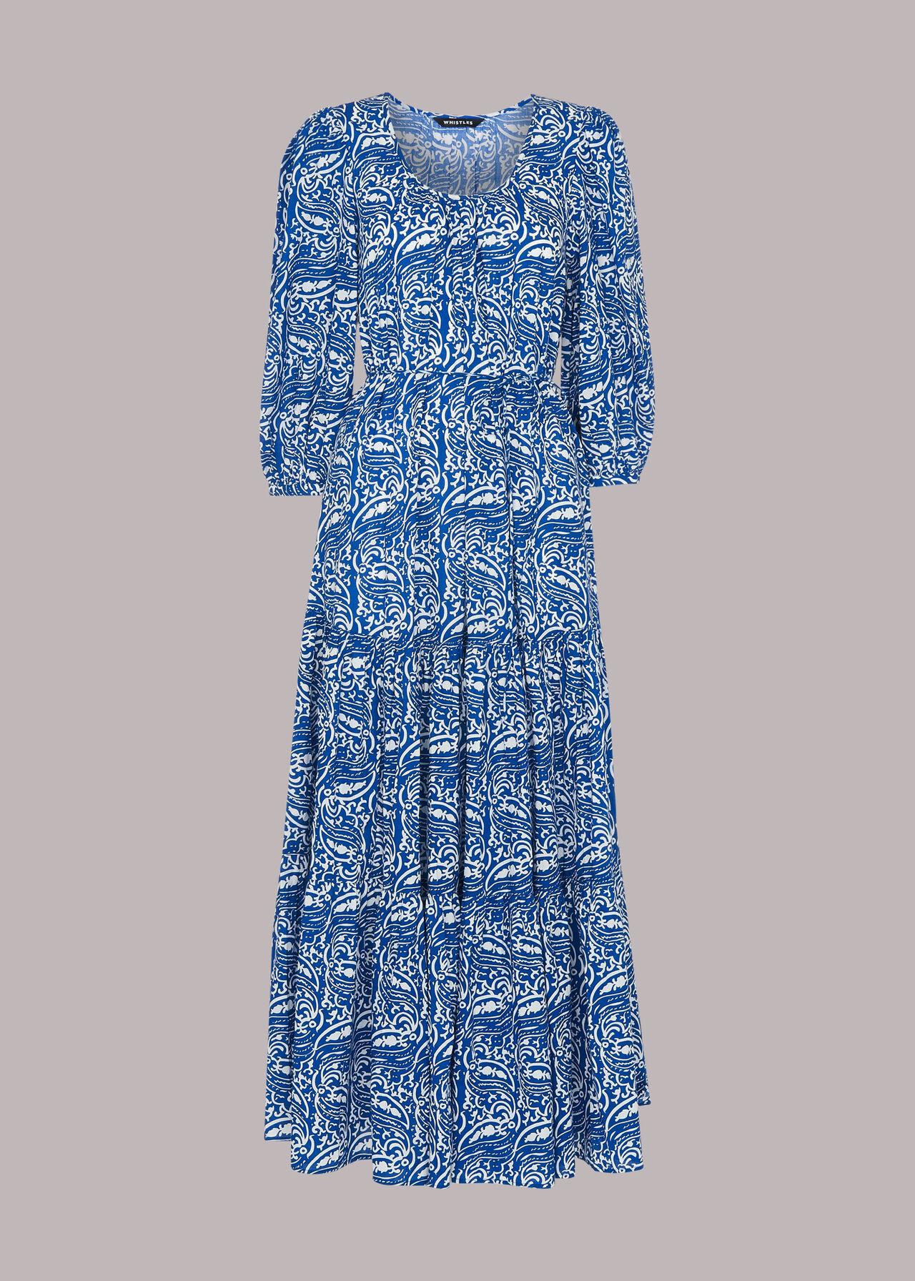 Chaina Print Trapeze Dress