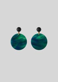 Circle Resin Earring Green