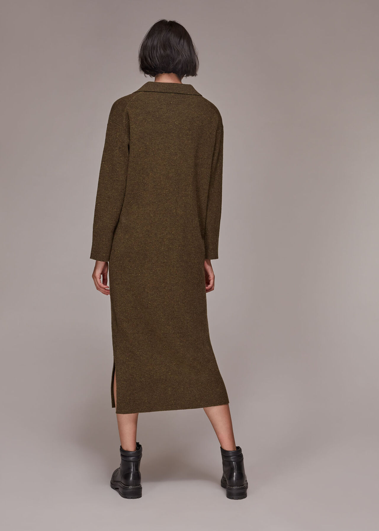 Collar Midi Knit Dress