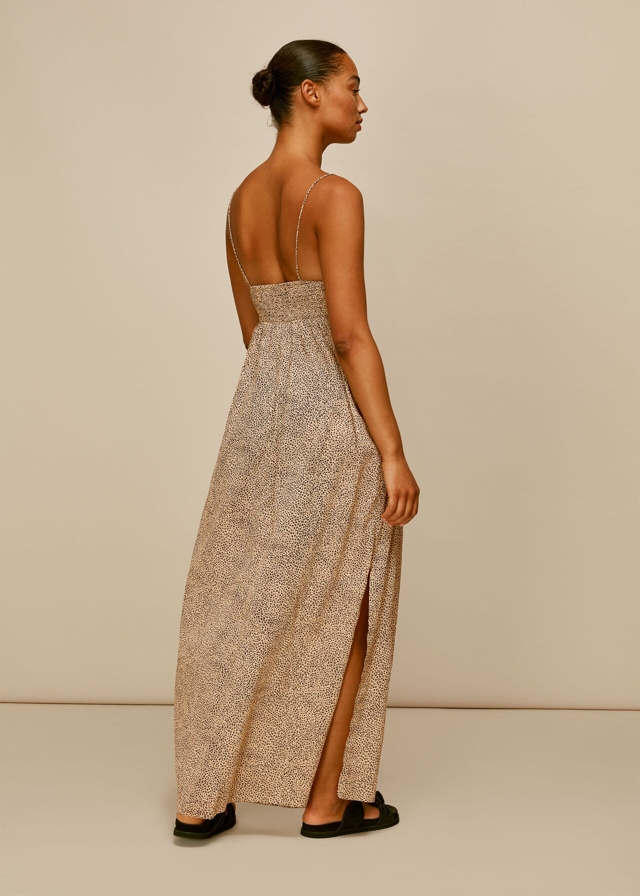 Mini Leopard Beach Maxi Dress Leopard Print