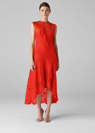 Willow Lace Dress Red