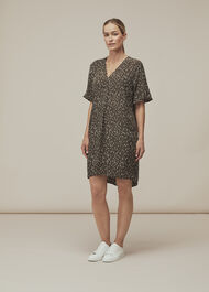 Fleck Print Alba Dress