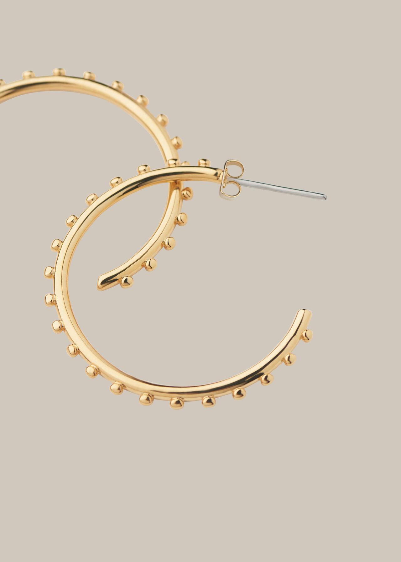 Studded Classic Hoop