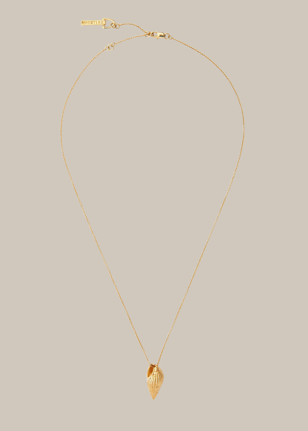 Shell Pendant Necklace Gold/Multi