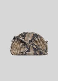 Jasmin Snake Half Moon Bag Snake Print
