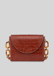 Rima Croc Chain Bag Burgundy
