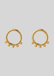 Ring Stud Earring Gold/Multi