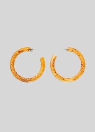 Statement Speckled Resin Hoop Orange