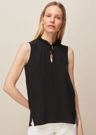 Selena Silk Top Black