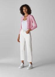 Pointelle Cardigan Pale Pink