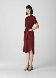 Montana Longline Shirt Dress Burgundy