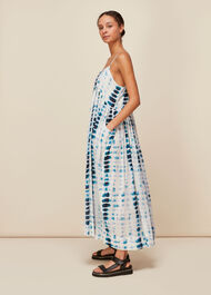 Tie Dye Beach Carmen Dress