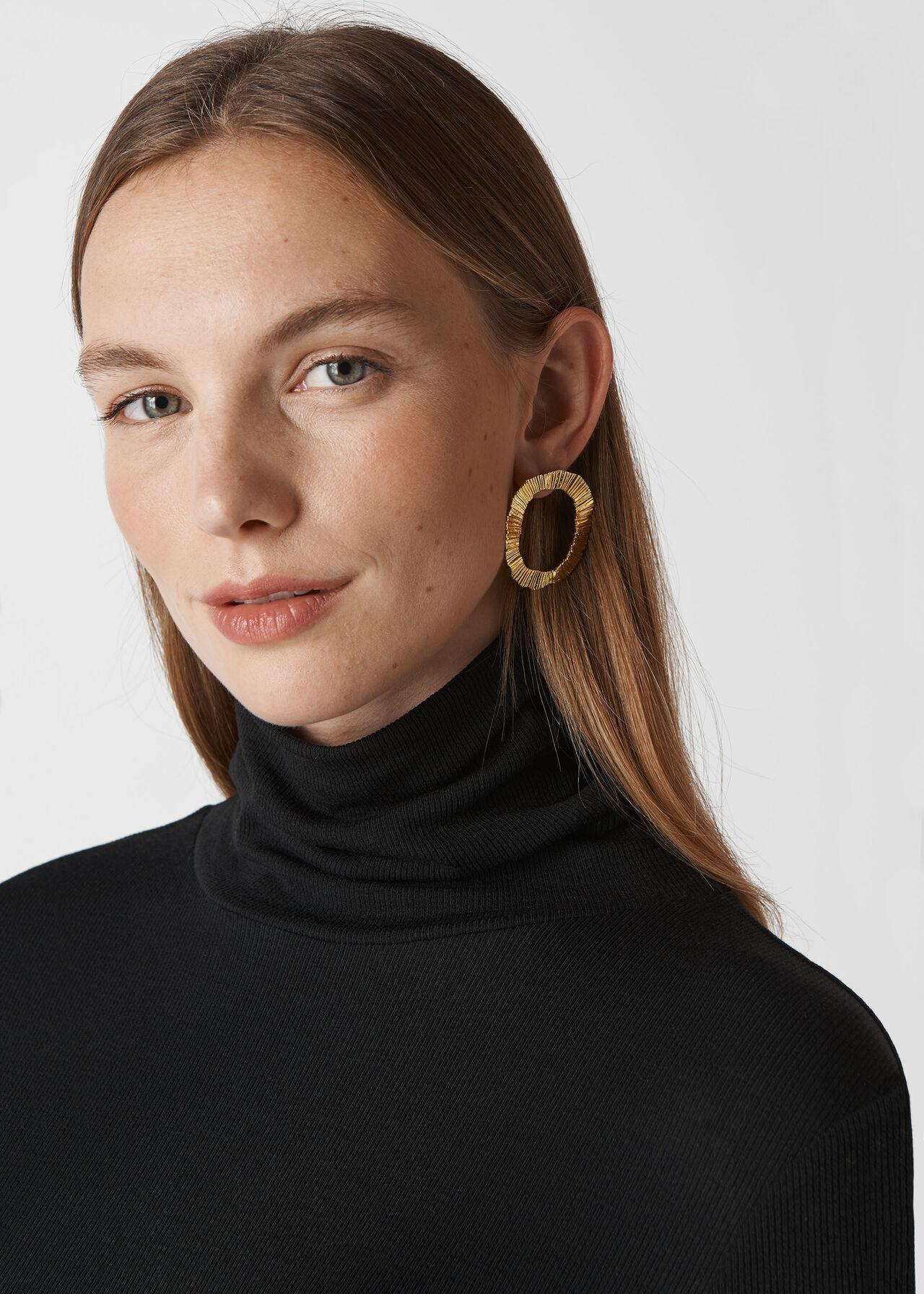 Textured Irregular Earring Gold