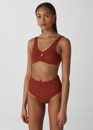 Textured Bikini Bottoms Rust
