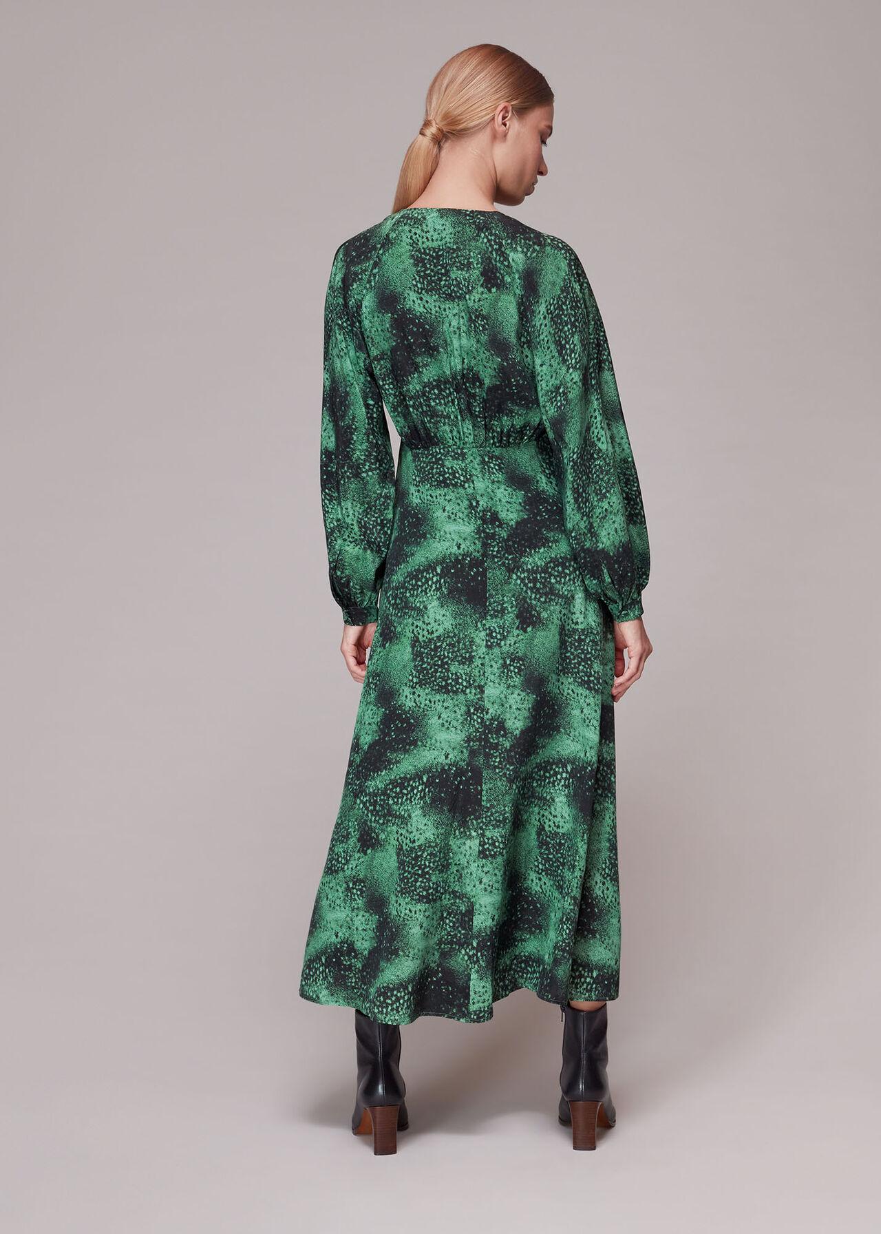 Photographic Animal Silk Dress