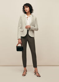 Textured Slim Jersey Jacket