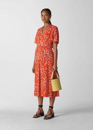 Digital Daisy Zelena Dress Red/Multi